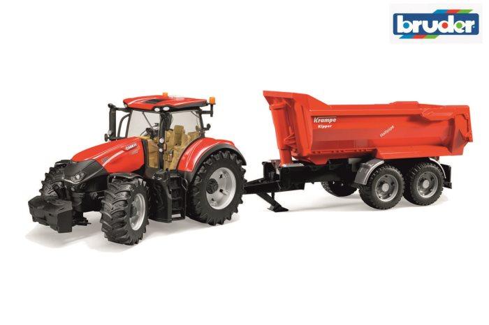 BRUDER AGRI TRATTORE CASE OPTC-RIM     3199