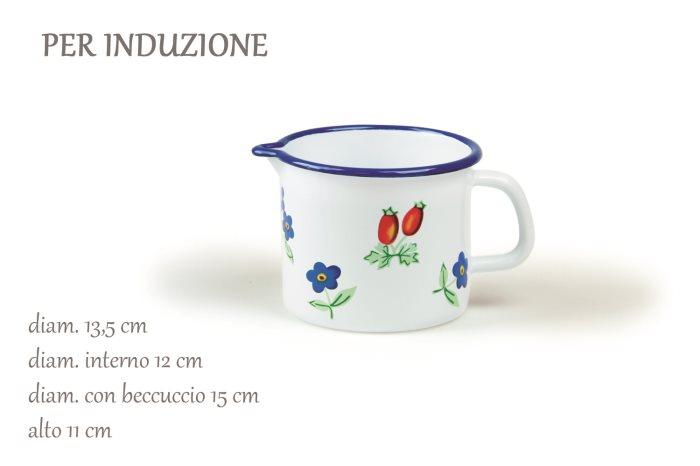 PIGNATTO SMALTO FIORELLINO C-BECCO CM12