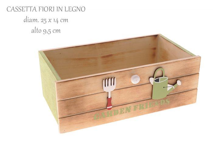 CASSETTA FIORI LEGNO GARDEN 25X14    58279