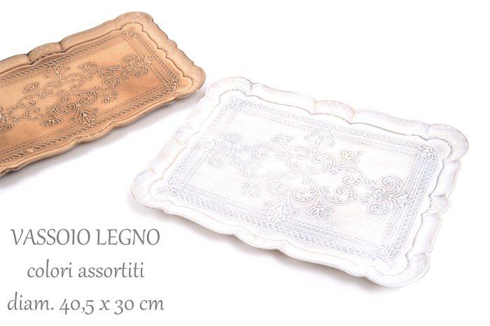 VASSOIO LEGNO RETTFDO TUSCAN40X30    89921