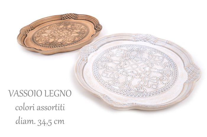 VASSOIO LEGNO TONDO TUSCANIA 34-5    89945