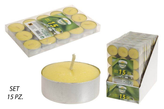 CITRONELLA TEALIGHT SET PZ15